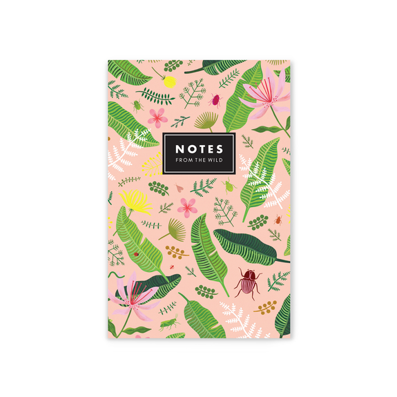 Notes From The Wild Mini Notepad - Blush