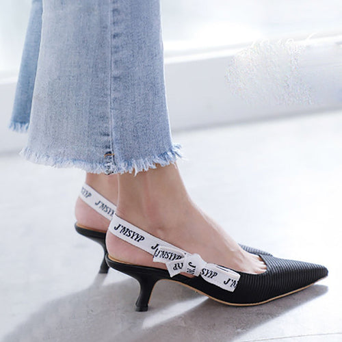 Sharp cat and women's shoes