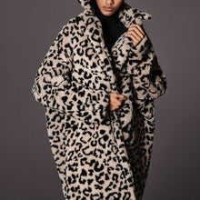 Cool Chic Lapel Collar Leopard Printed Long Loose Coat
