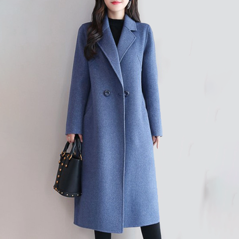 Elegant Notch Lapel  Plain Outerwear