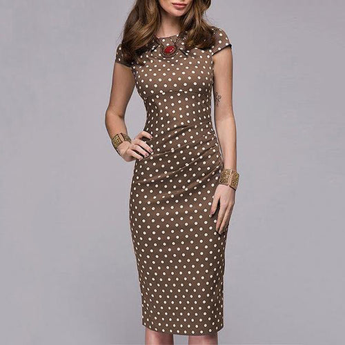 Polka Dot Bodycon Dress