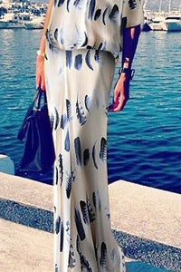 2019 Sexy Fashion One Shoulder Floral Print Maxi Dress