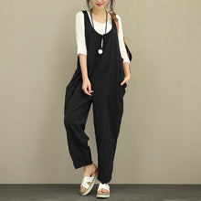 Fashion Casual Cotton/Linen Loose Jumpsuits