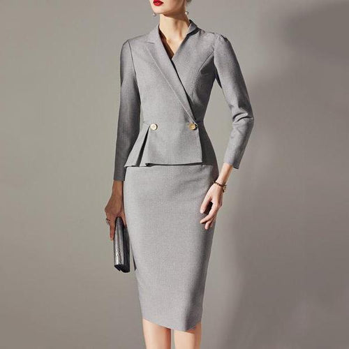 Majorgous Asymmetric Neck Zips Plain Bodycon Dress