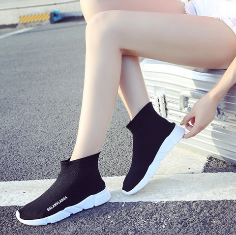 Pure Color Thick-Soled Casual Shoes