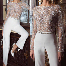 Fashion Elegant Pure Colour Splicing Sequins Jumpsuits