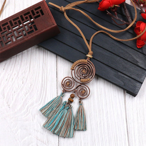 Chinese Style Tassel Necklace