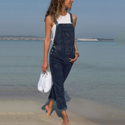 2019 Stylish Bib Pants Pocket Casual Jumpsuit