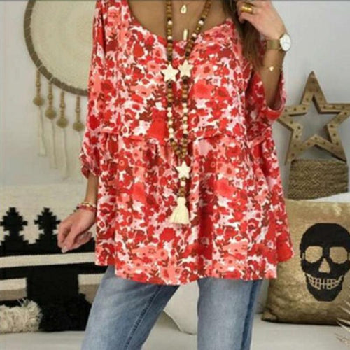 Sexy Round Neck Printed Loose Short Sleeves T-Shirt