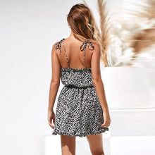 Sexy Print Backless Sling Dress