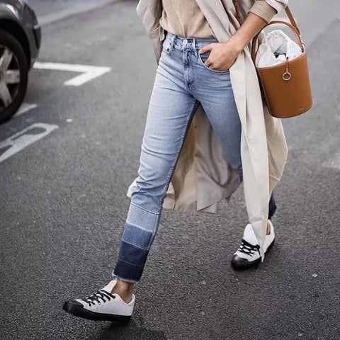 fashion Gradient Colour Straight Jeans