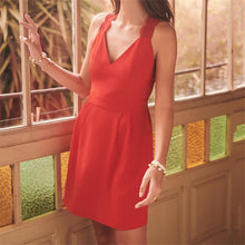 Fashion Sexy V-Neck Halter Sleeveless Slim Dresses