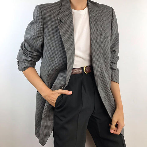 Women's Simple Fashion Plaid Blazer