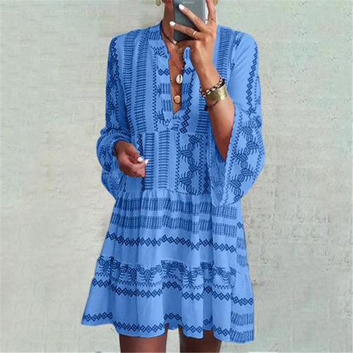 Women's Printed Loose Dress