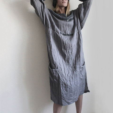Casual Comfortable Thin Linen Batwing Sleeve Dress