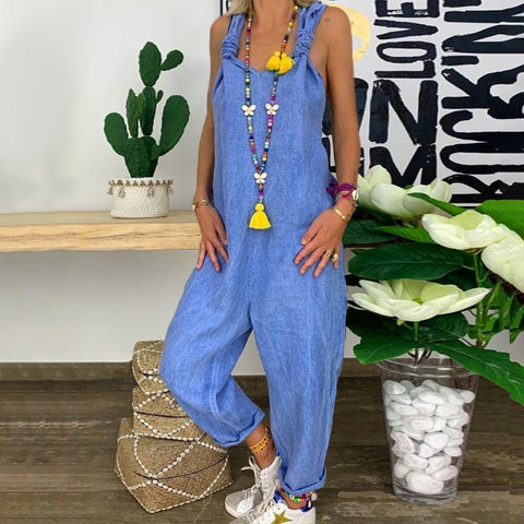 Fashion Loose Halter Jumpsuit