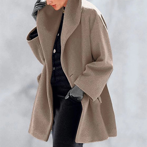 Warm Fashion Multi-Color Shawl Collar Coat
