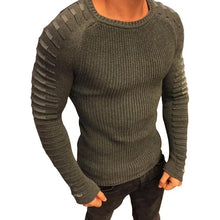 Fashion Mens Striped Sleeve Sweater