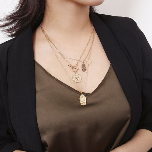 Retro Simple Multi-Layer Necklace