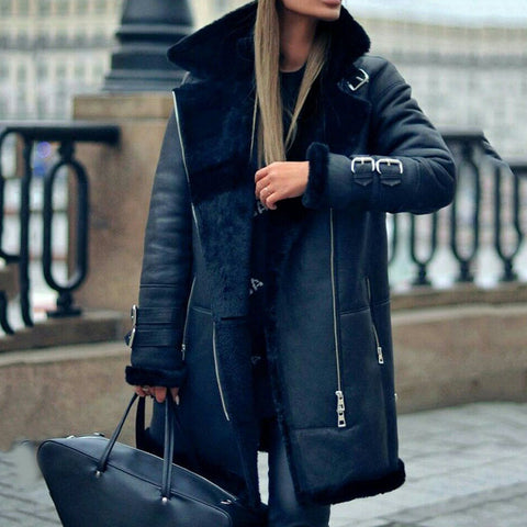 Fashion Personality Street Leather Women's Coat