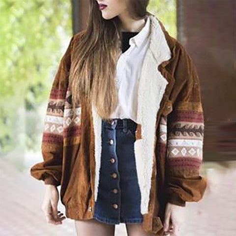 Women's Ethnic Style Loose Print Jacket