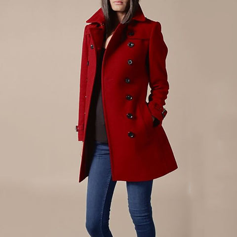 Ladies Slim Lapel Commuter Coat