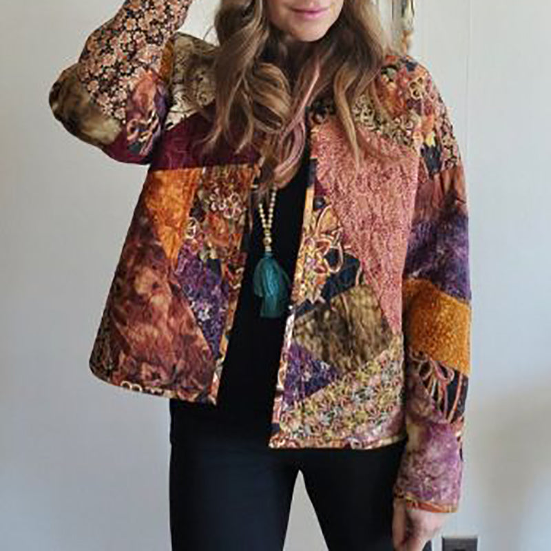 Streetwear Printed Color Long Sleeve Women's Jacket