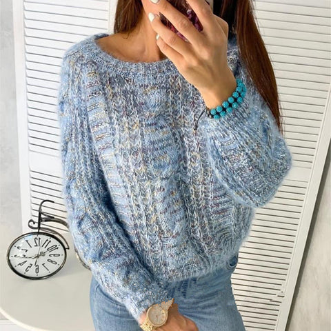 Casual Loose Round Neck Sweater