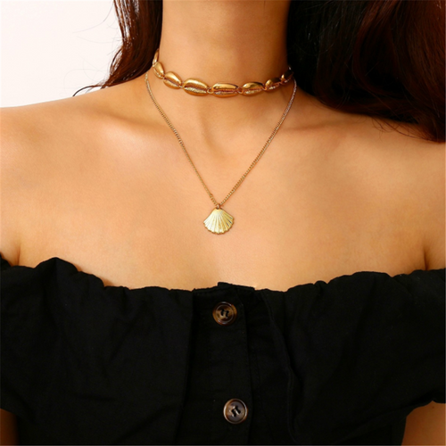 Bohemian ethnic multi-layer clavicle chain