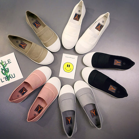 One foot soft bottom casual canvas shoes