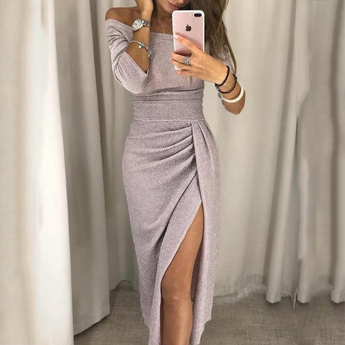 2019 Open Neck Collar Bodycon Dress