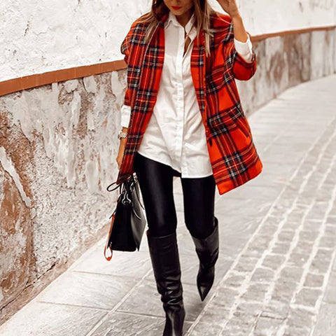 England Plaid Jacket
