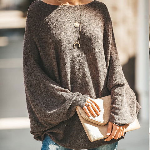 Women's Solid Color Collar Sweater