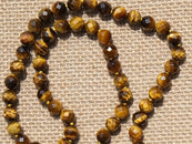 Tiger Eye Faceted Mala