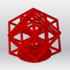 3D Model Resin SLA LASER - Solid Red