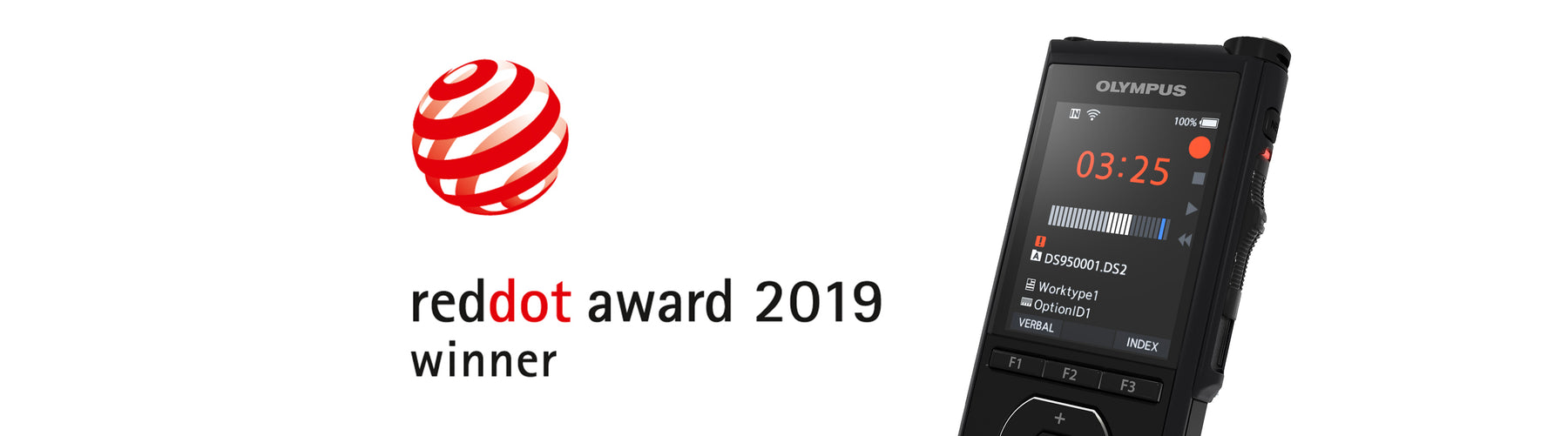 Olympus DS-9500 Winner of the Red Dot Design Awards 2019