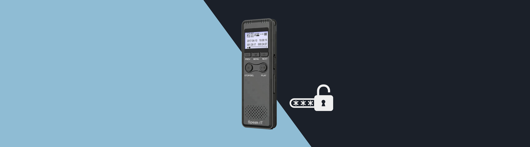 The Best Password Protected Voice Recorder?