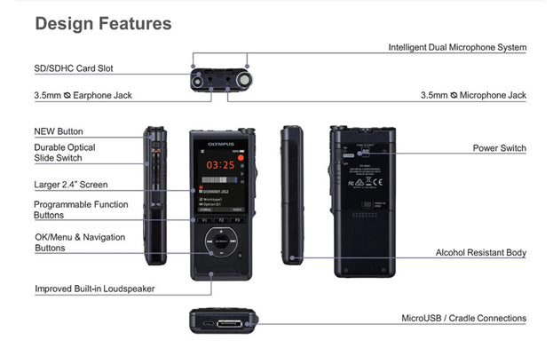 Olympus DS-9000 Design Features