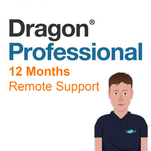 12 Months Remote Technical Support for Nuance Dragon Professional Solutions (per user) - Speak-IT Solutions LTD