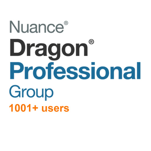 Nuance Dragon Professional Group 15 Volume License 1001+ Users - Speak-IT Solutions LTD