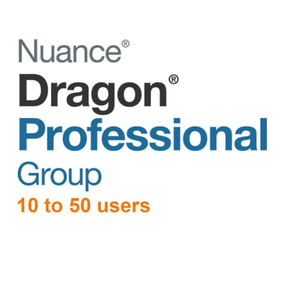 Nuance Dragon Professional Group 15 Volume License 10 - 50 Users - Speak-IT Solutions LTD