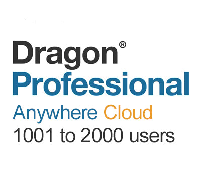 Nuance Dragon Professional Anywhere Cloud 1001 to 2000 Users - Speak-IT Solutions LTD