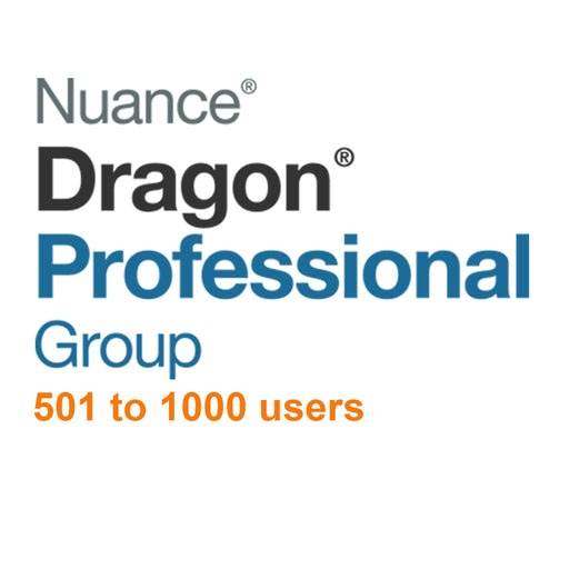 Nuance Dragon Professional Group 15 Volume License 501 - 1000 Users - Speak-IT Solutions LTD