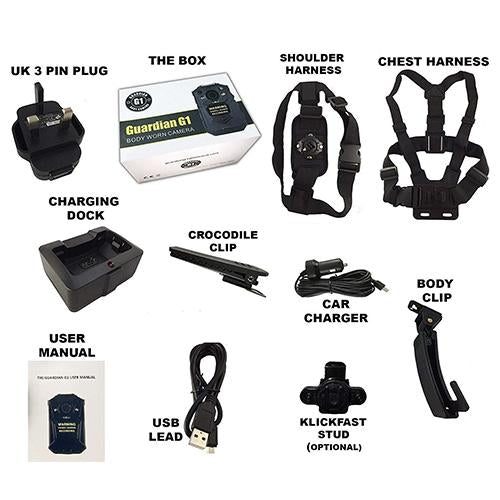 G1 Body Worn Camera with Complete Accessory Kit - Speak-IT Solutions LTD