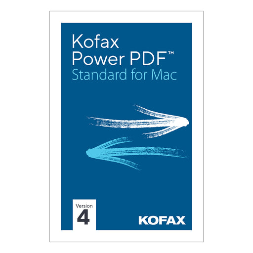 Kofax Power PDF 4 Standard for Mac (Download)