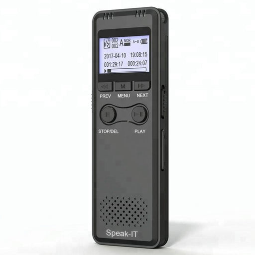 Speak-IT Premier Password Protected 8 GB Digital Voice Recorder - The Speech Shop