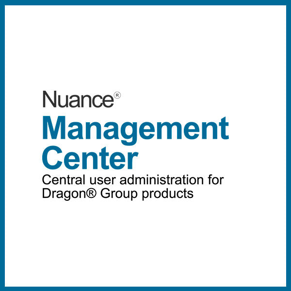 Nuance User Management Centre (Dragon Professional Group 10 - 50 users) Yearly Subscription - Speak-IT Solutions LTD