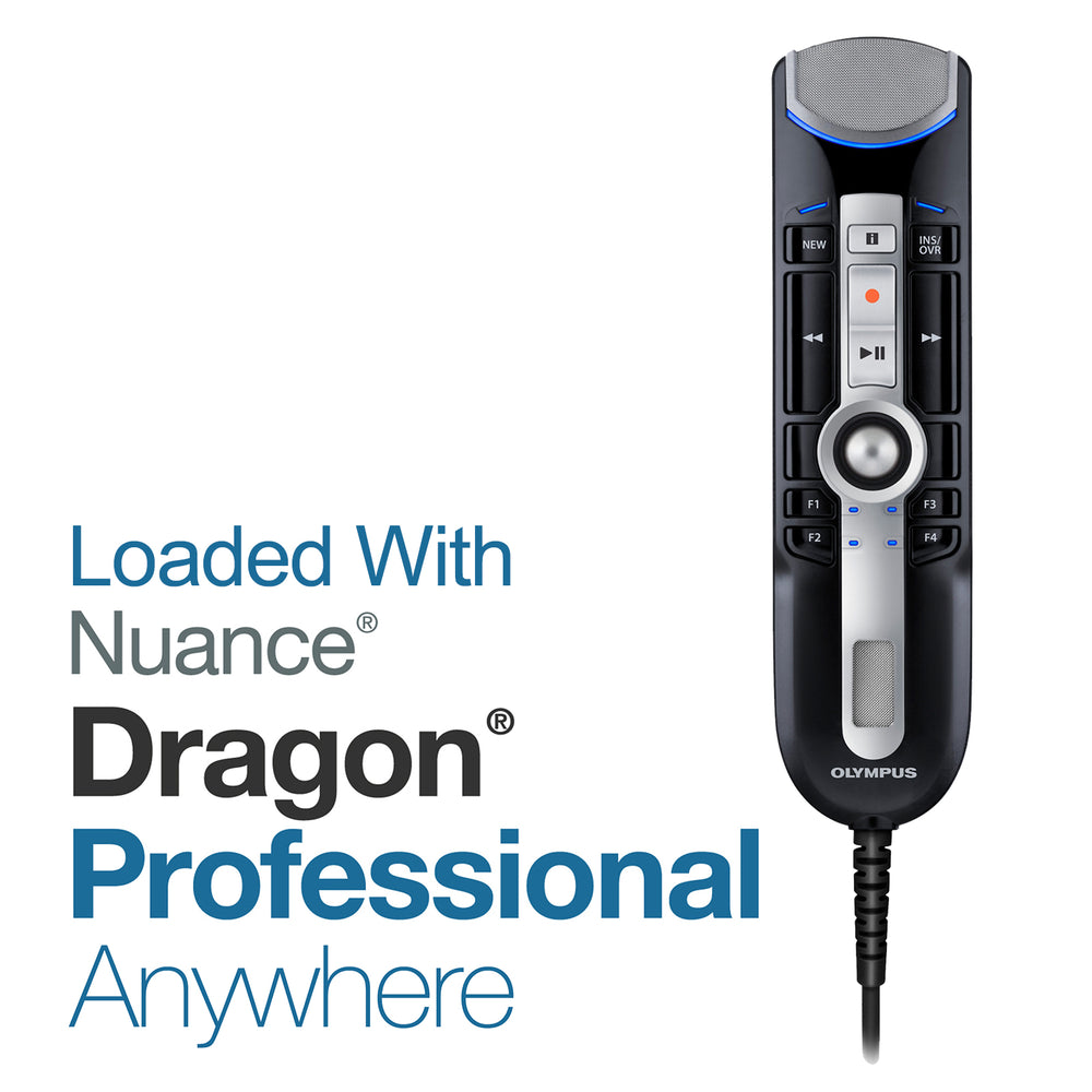 Nuance Dragon Pro Anywhere & Olympus RM-4015P (8GB) Monthly Hardware/Software Subscription - The Speech Shop