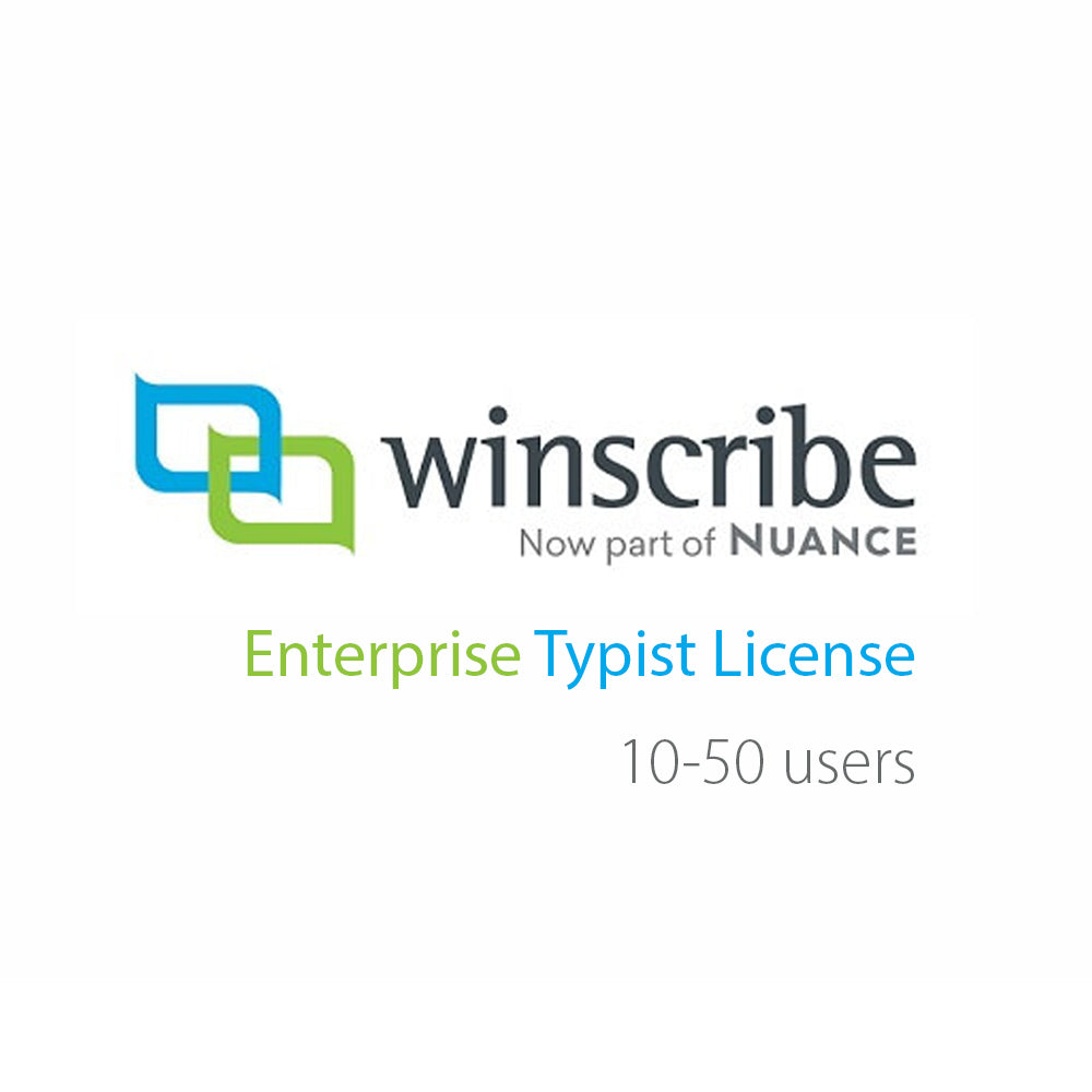 Nuance Winscribe Enterprise Typist License (10-50 Users) - Speak-IT Solutions LTD