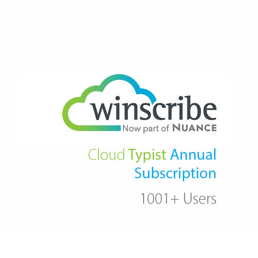 Nuance Winscribe Cloud Typist Annual Subscription (1001+ Users) - The Speech Shop